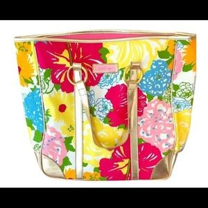 Lilly Pulitzer Heritage Large Floral Carry All Bag